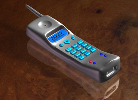 3D model of a phone receiver